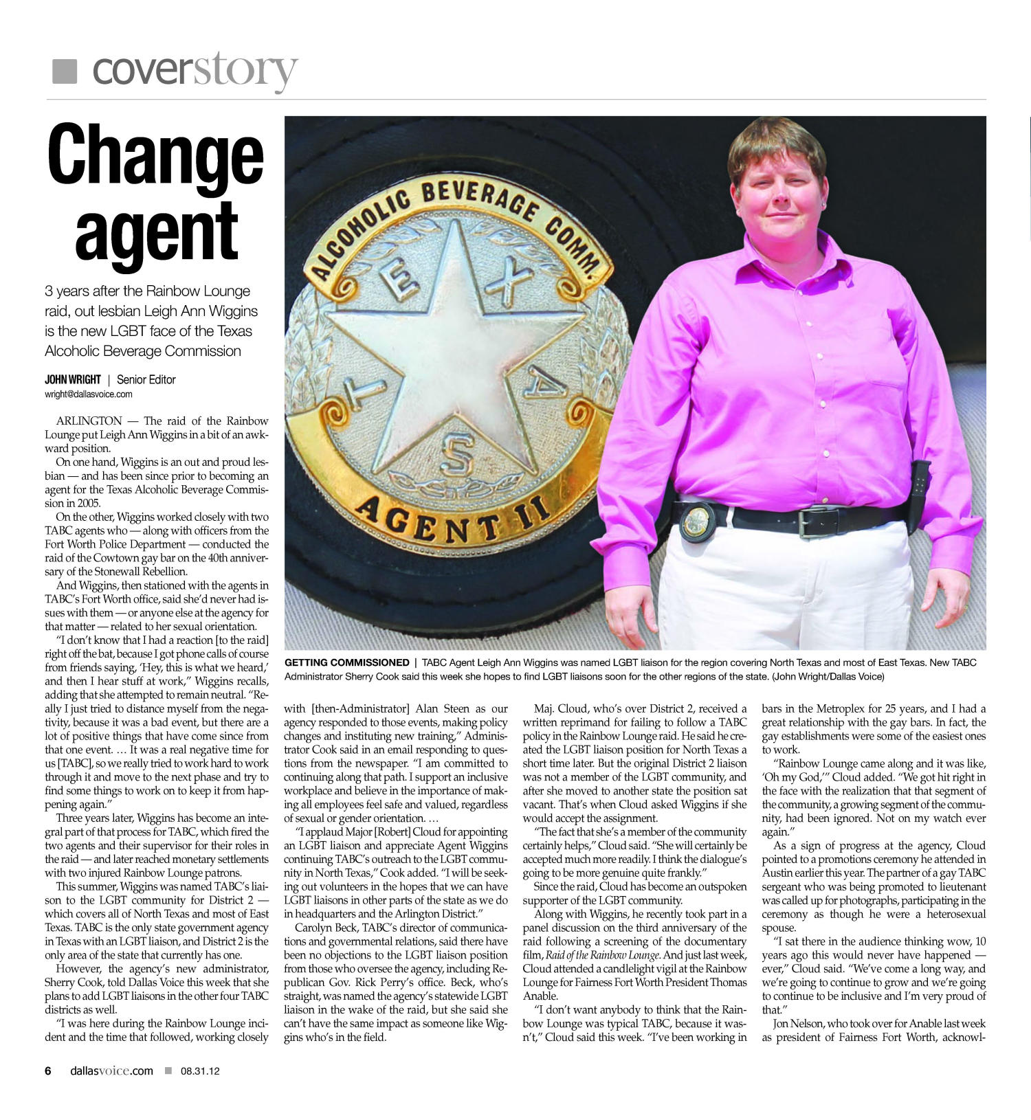 Dallas Voice (Dallas, Tex.), Vol. 29, No. 16, Ed. 1 Friday, August 31, 2012                                                                                                      [Sequence #]: 6 of 48