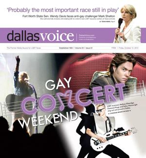Primary view of object titled 'Dallas Voice (Dallas, Tex.), Vol. 29, No. 22, Ed. 1 Friday, October 12, 2012'.