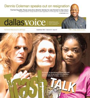Primary view of object titled 'Dallas Voice (Dallas, Tex.), Vol. 29, No. 23, Ed. 1 Friday, October 19, 2012'.