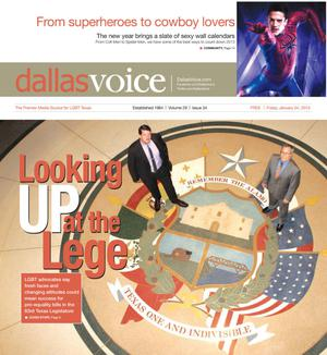 Primary view of object titled 'Dallas Voice (Dallas, Tex.), Vol. 29, No. 34, Ed. 1 Friday, January 4, 2013'.