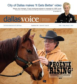 Primary view of object titled 'Dallas Voice (Dallas, Tex.), Vol. 29, No. 35, Ed. 1 Friday, January 11, 2013'.