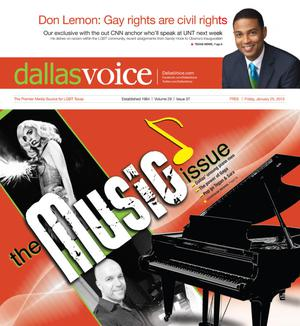 Dallas Voice (Dallas, Tex.), Vol. 29, No. 37, Ed. 1 Friday, January 25, 2013
