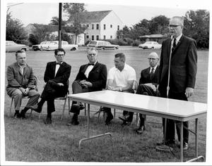 Primary view of object titled '[Photograph of College Station City Hall Groundbreaking Ceremony 1]'.
