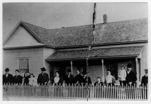 Primary view of object titled 'Sam Harben family and residence, Richardson, Texas'.