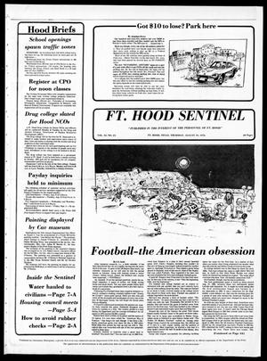 Primary view of object titled 'The Fort Hood Sentinel (Temple, Tex.), Vol. 35, No. 24, Ed. 1 Thursday, August 19, 1976'.