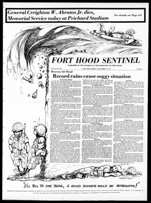 Primary view of object titled 'The Fort Hood Sentinel (Temple, Tex.), Vol. 33, No. 26, Ed. 1 Friday, September 6, 1974'.