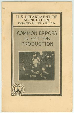 Primary view of object titled 'Common Errors in Cotton Production'.
