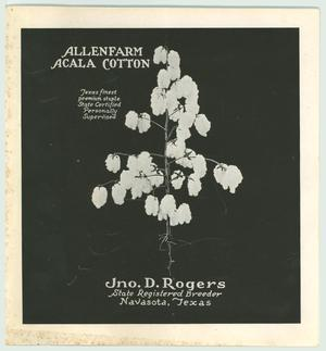 Primary view of object titled 'Allenfarm Acala Cotton'.