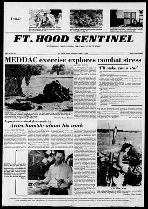 Primary view of object titled 'The Fort Hood Sentinel (Temple, Tex.), Vol. 40, No. 47, Ed. 1 Thursday, April 1, 1982'.