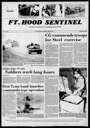 Primary view of object titled 'The Fort Hood Sentinel (Temple, Tex.), Vol. 41, No. 4, Ed. 1 Thursday, May 27, 1982'.
