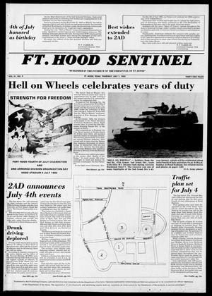 Primary view of object titled 'The Fort Hood Sentinel (Temple, Tex.), Vol. 41, No. 9, Ed. 1 Thursday, July 1, 1982'.