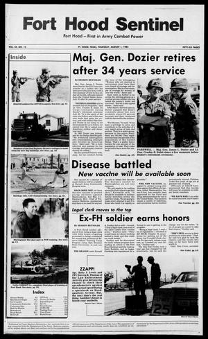 The Fort Hood Sentinel (Temple, Tex.), Vol. 44, No. 13, Ed. 1 Thursday, August 1, 1985