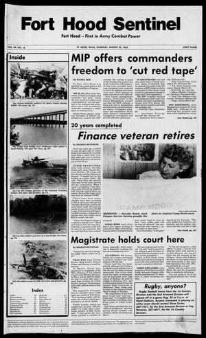 The Fort Hood Sentinel (Temple, Tex.), Vol. 44, No. 16, Ed. 1 Thursday, August 22, 1985