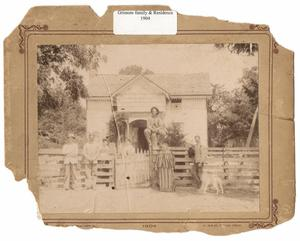 Primary view of object titled 'Grissom Family and Residence, 1904, Richardson, Texas'.
