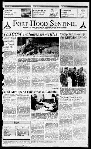 Primary view of object titled 'The Fort Hood Sentinel (Temple, Tex.), Vol. 49, No. 30, Ed. 1 Thursday, January 4, 1990'.