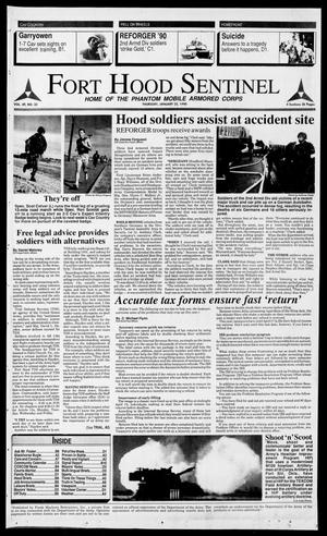 Primary view of object titled 'The Fort Hood Sentinel (Temple, Tex.), Vol. 49, No. 33, Ed. 1 Thursday, January 25, 1990'.