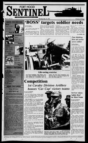Primary view of object titled 'The Fort Hood Sentinel (Temple, Tex.), Vol. 51, No. 40, Ed. 1 Thursday, May 14, 1992'.