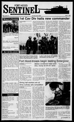 Primary view of object titled 'The Fort Hood Sentinel (Temple, Tex.), Vol. 53, No. 31, Ed. 1 Thursday, April 7, 1994'.