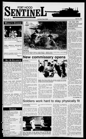 Primary view of The Fort Hood Sentinel (Temple, Tex.), Vol. 53, No. 32, Ed. 1 Thursday, April 14, 1994