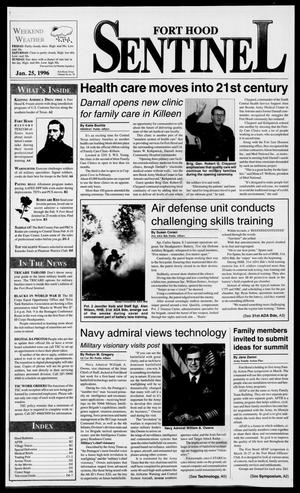 Primary view of object titled 'The Fort Hood Sentinel (Temple, Tex.), Vol. 54, No. 70, Ed. 1 Thursday, January 25, 1996'.