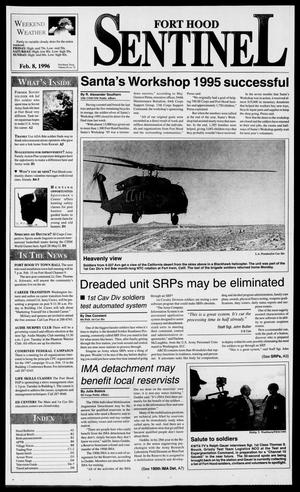 Primary view of object titled 'The Fort Hood Sentinel (Temple, Tex.), Vol. 54, No. 72, Ed. 1 Thursday, February 8, 1996'.