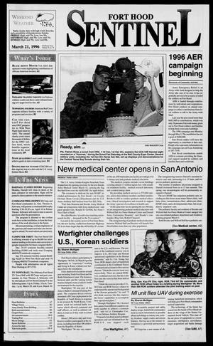 Primary view of object titled 'The Fort Hood Sentinel (Temple, Tex.), Vol. 54, No. 78, Ed. 1 Thursday, March 21, 1996'.