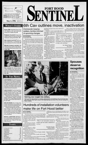 Primary view of object titled 'The Fort Hood Sentinel (Temple, Tex.), Vol. 54, No. 84, Ed. 1 Thursday, May 2, 1996'.