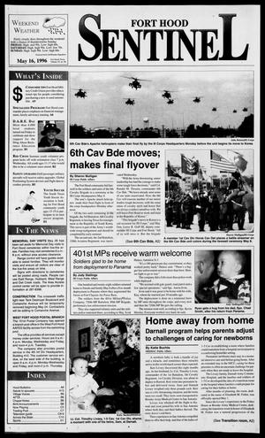 The Fort Hood Sentinel (Temple, Tex.), Vol. 54, No. 86, Ed. 1 Thursday, May 16, 1996