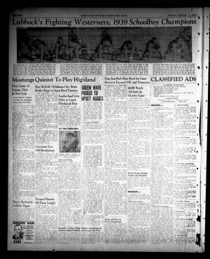 Sweetwater Reporter (Sweetwater, Tex.), Vol. 43, No. 202, Ed. 1 Monday, January 1, 1940