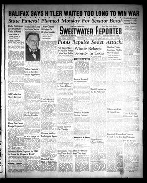 Primary view of object titled 'Sweetwater Reporter (Sweetwater, Tex.), Vol. 43, No. 219, Ed. 1 Sunday, January 21, 1940'.