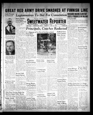 Primary view of object titled 'Sweetwater Reporter (Sweetwater, Tex.), Vol. 43, No. 239, Ed. 1 Wednesday, February 14, 1940'.