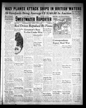 Primary view of object titled 'Sweetwater Reporter (Sweetwater, Tex.), Vol. 43, No. 244, Ed. 1 Tuesday, February 20, 1940'.