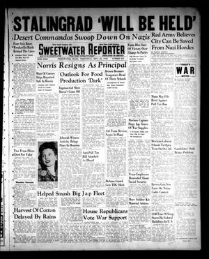 Primary view of object titled 'Sweetwater Reporter (Sweetwater, Tex.), Vol. 45, No. 244, Ed. 1 Wednesday, September 23, 1942'.