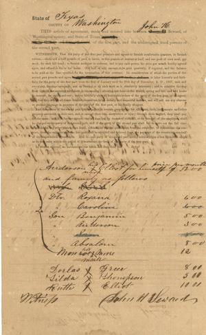 Primary view of object titled '[Labor contract between Seward and several workers]'.