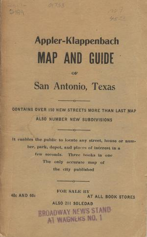 Primary view of object titled 'Map of San Antonio and additions [Accompanying Text].'.