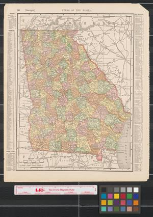 Primary view of object titled '[Maps of Georgia and South Carolina]'.