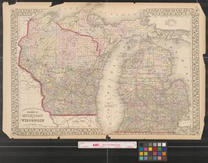 Primary view of object titled '[Maps of Michigan and Wisconsin with Detroit and Milwaukee]'.