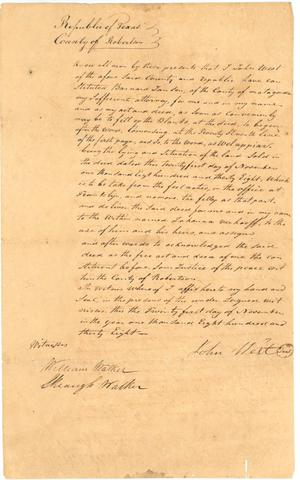 Primary view of object titled '[Statement of Power of Attorney]'.