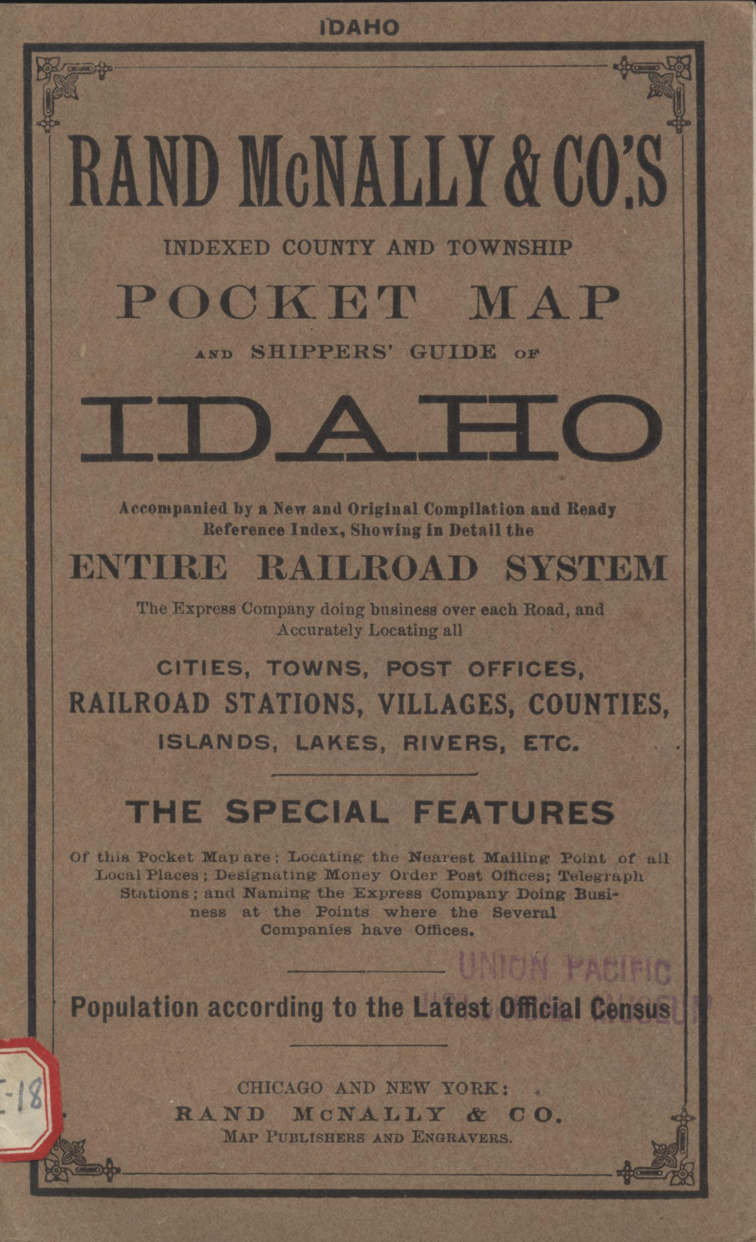 Idaho [ Accompanying Text]., Explanation and supporting information related to map that shows early twentieth century Idaho counties, Native American reservations, township grid, railroads, proposed canal system, lava beds, cities, and towns.,