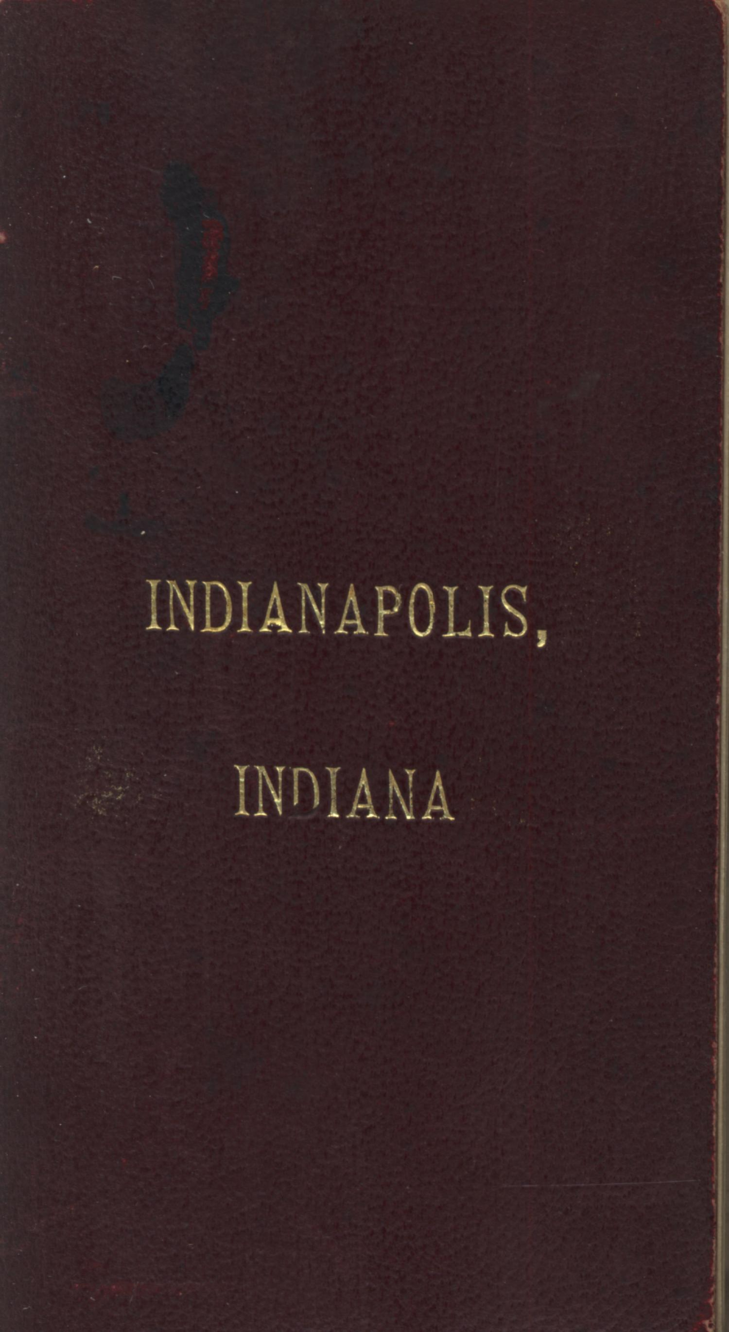 Map of Indianapolis [Accompanying Text]., Explanation and supporting information related to map that shows late nineteenth century Indianapolis, Indiana street names, railroads, streetcards, cemeteries, stock yards, state fair grounds, additions, military facilities, public institutions, and select buildings and businesses.,