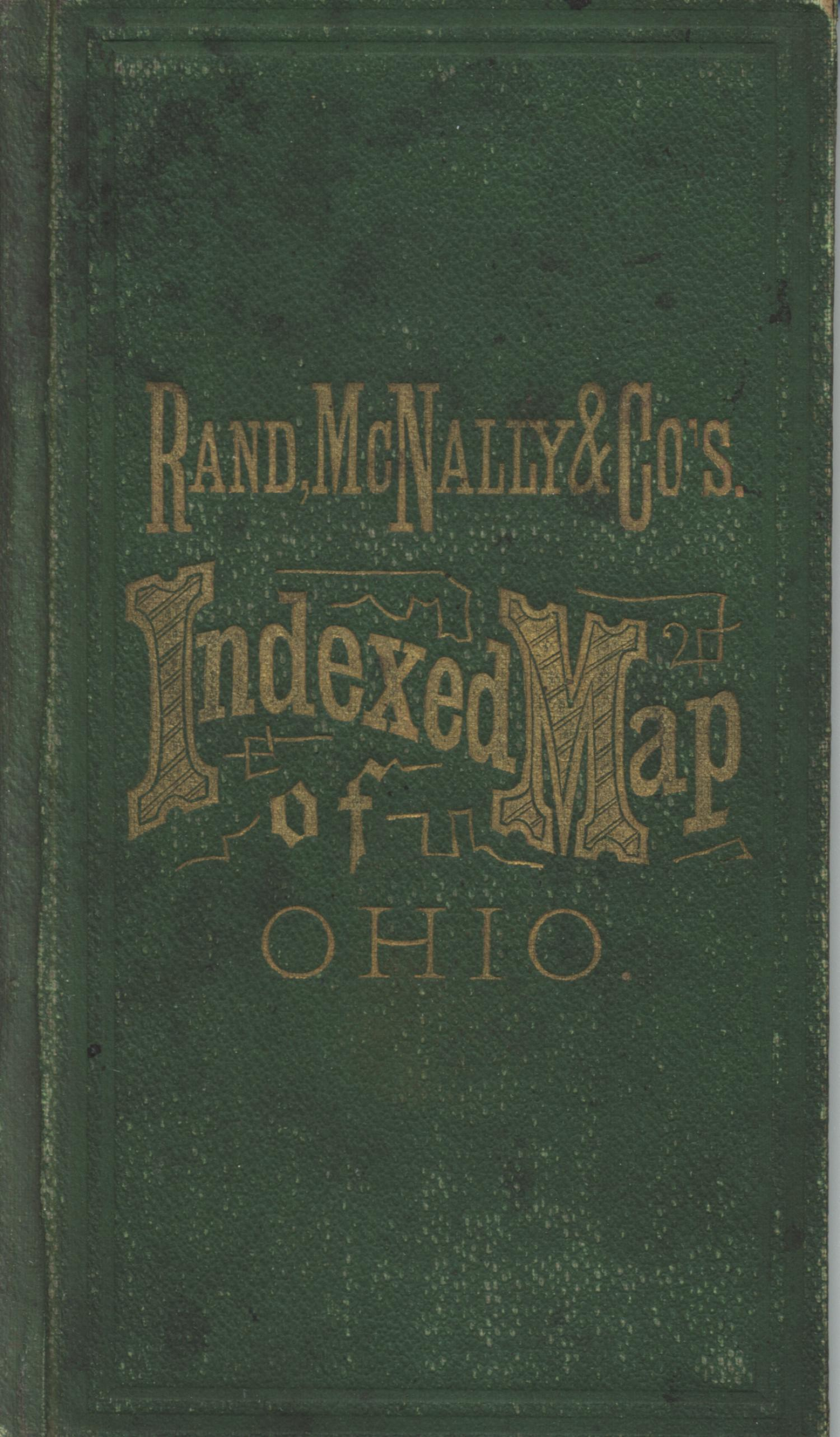 Rand, McNally & Co.s Ohio [Accompanying Text]., Explanation and supporting information related to map that shows late nineteenth century Ohio counties, railroads, canals, cities, towns, and notable physical features.,