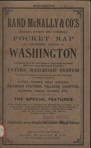Primary view of object titled 'Rand McNally & Co.'s new business atlas map of Washington.'.