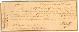 Primary view of object titled '[Bank Draft for T. C. Zimmerman]'.