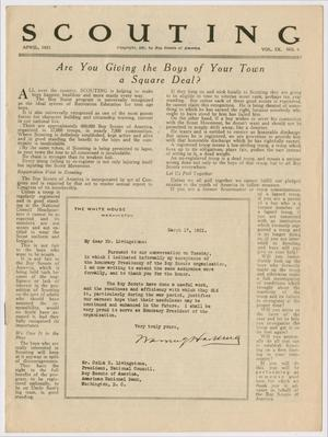 Scouting, Volume 9, Number 4, April 1921