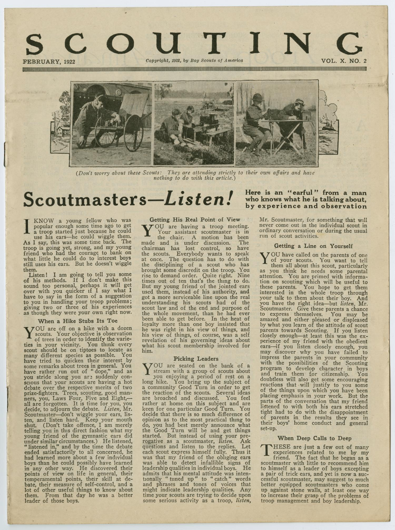 Scouting, Volume 10, Number 2, February 1922                                                                                                      1