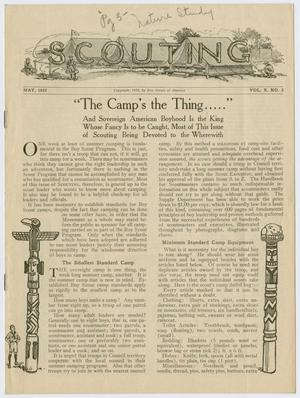 Primary view of object titled 'Scouting, Volume 10, Number 5, May 1922'.