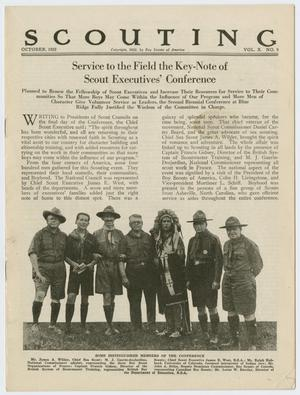 Scouting, Volume 10, Number 9, October 1922