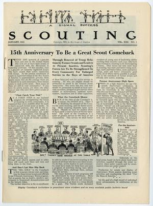 Primary view of Scouting, Volume 13, Number 1, January 1925