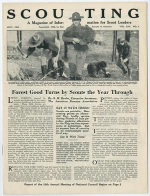 Primary view of Scouting, Volume 13, Number 6, July 1925