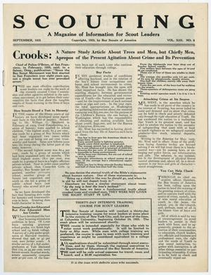 Primary view of Scouting, Volume 13, Number 8, September 1925